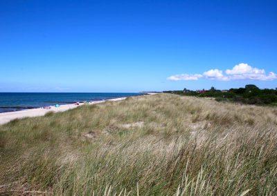 für Urlauber die Ruhe und Natur genießen wollen - unverbauter Blick über den Strand Richtung Wustrow