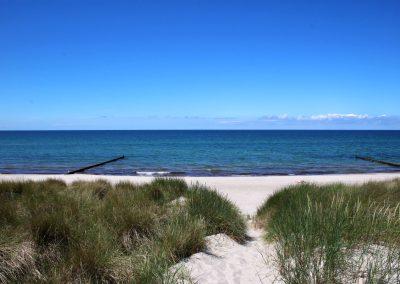 naturbelassene, unverbaute Strände an der Ostsee, durch den privaten Strandaufgang haben sie einen traumhaften Blick auf den Strand