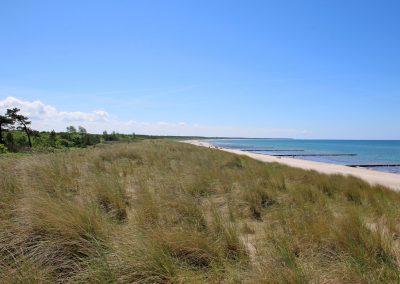 Blick nach Links vom privaten Strandaufgang